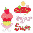 Vector illustration of sweetness — Image vectorielle