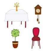 мебель — Cтоковый вектор