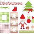 Christmas elements. — Stock Vector