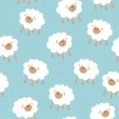 Seamless wallpaper pattern - Stok Vektör
