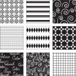 Vector de stock : Black and white seamless
