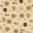 Royalty-Free Stock Vector Image: Seamless wallpaper pattern