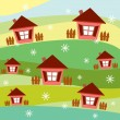 Stock Vector: Village