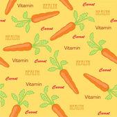 Carrot seamless — Stock Vector