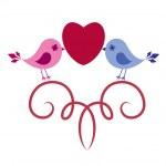 Birds in love — Stock Vector #4714100