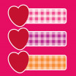 Vector banners with hearts — Stock Vector #4714107