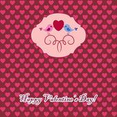 Valentine's card with bird — Stock Vector