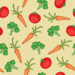 Stock Vector: Vegetables seamless pattern