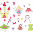 Princess set — Stockvectorbeeld