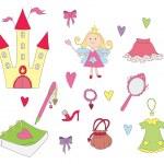 Princess set — Stock Vector
