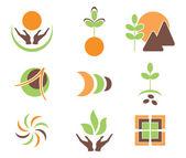 Symbols of nature — Stock Vector