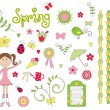 Stock Vector: Spring elements