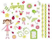 Bahar elemanları — Stok Vektör
