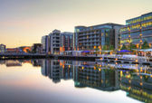 Cork city scenery at sunset — Stock Photo