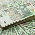 Stack of 100's polish zloty — Stock Photo