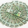 Stock Photo: Polish zloty banknotes