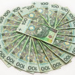 Polish zloty banknotes — Stock Photo