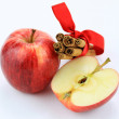 Apples and cinnamon composition - Stockfoto