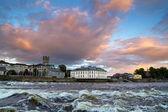 Limerick city at sunset — Stock Photo