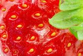 Macro picture of strawberry — Stock Photo