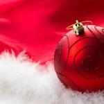 红色圣诞摆设 — 图库照片