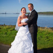 Wedding photo session in irish scenery — Stock Photo #4239732