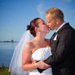 Married couple kiss — Stock Photo