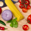 Stock Photo: Italian food ingredients