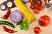 Italian food ingredients — Stock Photo