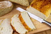 A loaf of homemade bread — Stock Photo