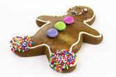 Homem de biscoito de pão de gengibre — Foto Stock