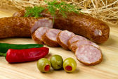Pools kielbasa — Stockfoto