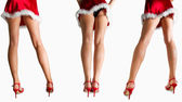 Sexy santa girls — Stock Photo