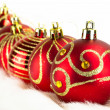 Christmas baubles background — Stock Photo #4413350