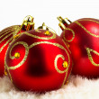 Christmas baubles background — Stock Photo