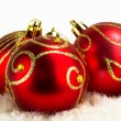 Christmas baubles background — Stock Photo #4413356