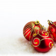 Christmas baubles background — Zdjęcie stockowe
