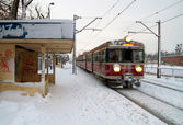 Polish train station — Stock Photo