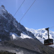 Stock Photo: Cable Car Chamonix - Aiguille du Mid