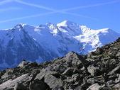 Mont-Blanc massif — Stock Photo