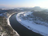 Elbe in winter — Stock Photo