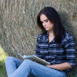 Girl with book — Stock Photo #4389756