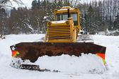 Bulldozer in winter — Stock Photo
