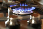 Gas cooker burner — Stock Photo