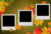 Höstens bakgrund med gula blad — Stockfoto