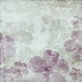Abstract grunge background with flowers — Stock Photo