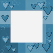 Frame with hearts and bauble — Stockfoto