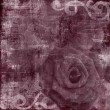 Vintage Floral Grunge Scrapbook Background with rose — Stock Photo #4091959