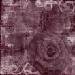 Vintage Floral Grunge Scrapbook Background with rose - Stock Photo