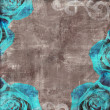 Stock Photo: Vintage Floral Grunge Scrapbook Background with rose